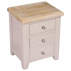 Sunhill 3-Drawer Bedside Table, 1 Table