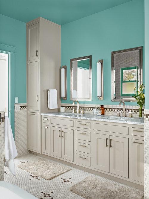 25 Best Farmhouse Turquoise Bath Ideas & Decoration Pictures | Houzz