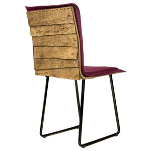 Wooden Shingle Chair, Burgundy