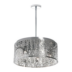 Siena 8-Light Crystal Chandelier With Floral Pattern, Polished Chrome