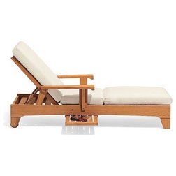 Transitional Outdoor Chaise Lounges by Teak Deals