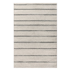 Williamsburg Minimalist Stripe Cream/Gray 8' x 10' Area Rug