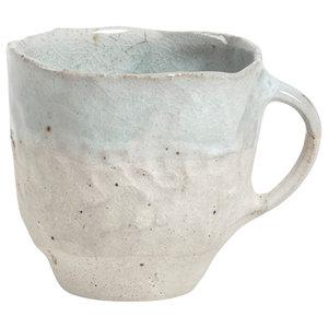Handmade Wood Ash Glaze Mug by Akiko Hirai