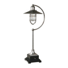 Uttermost Toledo Industrial Lamp, Matte Black