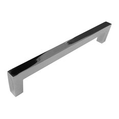 Celeste Designs Square Bar Pull Cabinet Handle Polished Chrome Solid Zinc 9mm 8