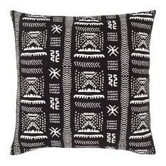 """Mud Cloth MDC-005 Pillow Cover, Black/White, 18""""x18"""", Pillow Cover Only"""
