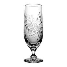 Monika Pinwheel Lead Crystal Beer Glasses, Small, Set of 6