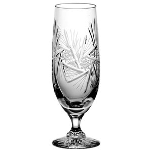 Monika Pinwheel Lead Crystal Beer Glasses, Small, Set of 6