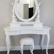 Oval Dresser & Stool