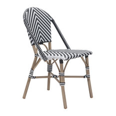Zuo Modern Paris Dining Chairs, Black and White, Set of 2