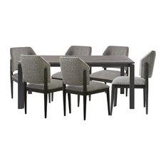 Universal Furniture Spaces Hamilton 7pc Dining Set Brushed Oak Top#736