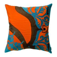 The Koko Kompany   Coptic Pillow, Orange   Decorative Pillows