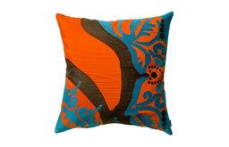 """Coptic Pillow, Orange, 18"""" x 18"""""""
