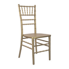 Offex Contemporary Stackable Traditional Gold Chiavari Chair