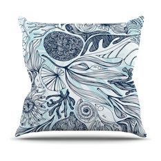 "Anchobee ""Marina"" Blue Aqua Throw Pillow"