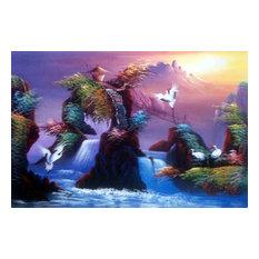 Mystical Cranes Oriental Painting