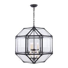 Gordon Collection 6-Light Chandelier, Rustic Zinc