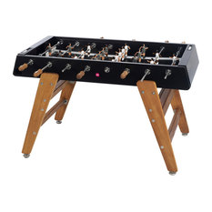Indoor/Outdoor Wooden Football Table, Black