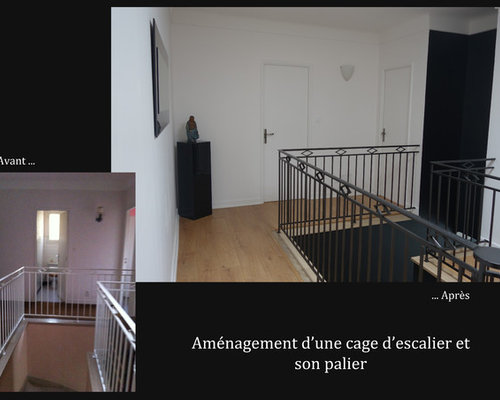 am nagement d 39 une cage d 39 escalier et d 39 un palier. Black Bedroom Furniture Sets. Home Design Ideas