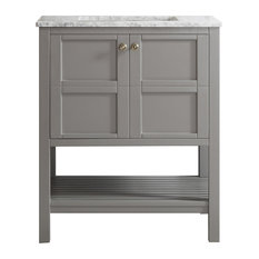 Delicieux Vinnova   Florence Single Vanity, Gray, Without Mirror   Bathroom Vanities  And Sink Consoles