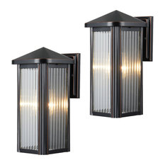 Oil Rubbed Bronze Outdoor Patio Exterior Light, Set of 2, 23-0742