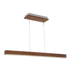 Drift LED Linear Pendant 3000K, Dark Walnut, 56""