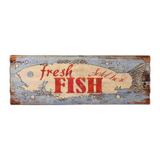 Iron Fish Wall Art, 40x115 cm