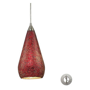 Elk Lighting Curvalo One Light Pendant 546-1RBY-CRC-LA
