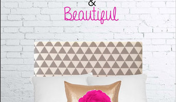 Grey Geometry Dorm Headboard (Twin/Twin XL)