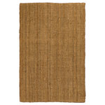 Natural Area Rugs - Calvin Hand-Woven Jute 5X8 Ft. Contemporary Area Rug Carpet, 5' X 8' - Calvin jute rug is a great choice for living rooms, bedrooms, and any part of your home where you want to introduce a natural, organic feeling. The warm, neutral tones work well with nearly any decorating style and provide a pleasing backdrop to enhance the beauty of your furniture. Natural Area Rugs has been selling rugs made with natural fibers for more than 50 years. This rug is hand loomed by skilled artisan rugmakers, so you can be confident of the high quality and attention to detail that you want in a natural fiber rug. The fibers used in most of our products are 100% natural. Excellent craftsmanship and exquisite hand sewn details are some of the most impressive features of our products, making them easily stand out and catch people's eye. We recommend using a rug pad with your jute area rug to help ensure that it does not move underfoot or slide out of place. Rug pads are also important for protecting both your floor and your rug. When cared for properly, you'll be proud to display this attractive and durable jute rug in your home for many years.