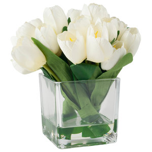 Square Crystal Bud Vase - Contemporary - Vases - by decogreat