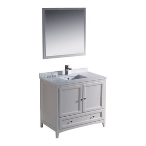 36 Quot Brittany Vanity Cottage White Transitional