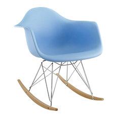 Rocker Lounge Chair, Blue