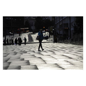 "Pixtury ""Walking"" Photo Print, Canvas, 40x60 cm"