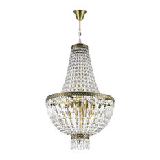 French wire basket chandelier houzz crystal lighting palace french empire 6 light antique bronze finish clear crystal basket mini aloadofball Images