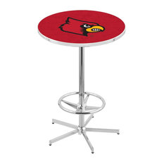 L216 - 42-inch Chrome Louisville Pub Table By Holland Bar Stool Co.
