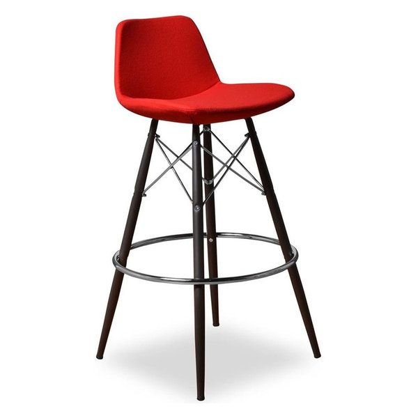 Barstool, Red, Set of 2