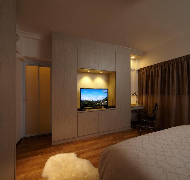 Asiático Dormitorio by nOtch lifestyle + design pte ltd (singapore)
