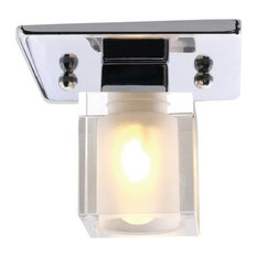 Ceiling Light With Chrome Finish and Lead Crystal Outer Glass