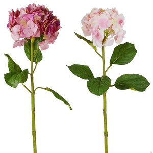 Pink and Purple Artificial Hydrangeas, Set of 2