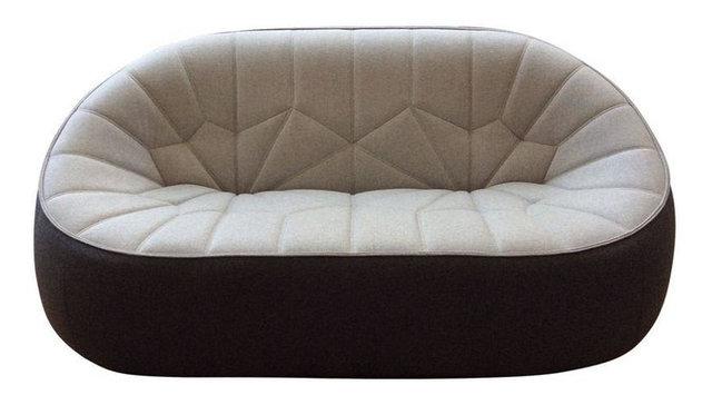 Cinna Ottoman Love Seat - Two Tone - Moderne - Canapé - par Chairish