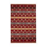 Red Tribal Wool Kilim Rug, Extra Large