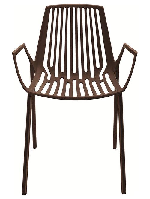 Rion Karmstol Stapelbar, Brun - Udendørs spisebordsstole