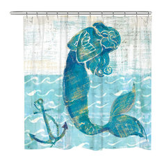 Mermaid of the Sea Shower Curtain