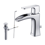 RIVUSS Carrión FBS-300 - Lead-Free Solid Brass Single-lever Bathroom Faucet, Chr