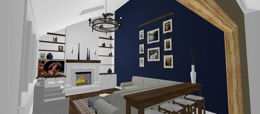 Family Room -Design Rendering