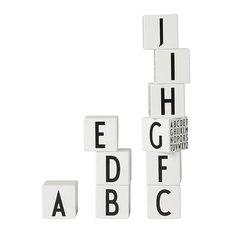 Design Letters AJ Vintage ABC Wooden Block Set, Danish Alphabet