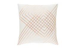 """Crescent by Surya Poly Fill Pillow, Cream/Copper, 20"""" Square, CSC003-2020P"""