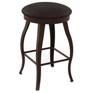 Adeco Rustic Metal Bar Stool With Wooden Top Industrial
