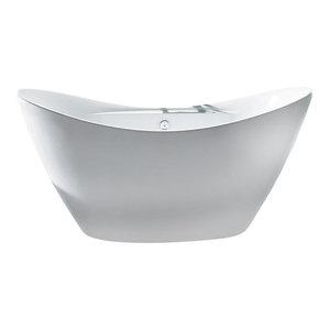 "AKDY 67"" Europe Style White Acrylic Free Standing Bathtub"